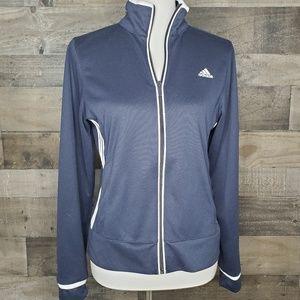 Adidas Track Jacket Full zip 3 stripes side M